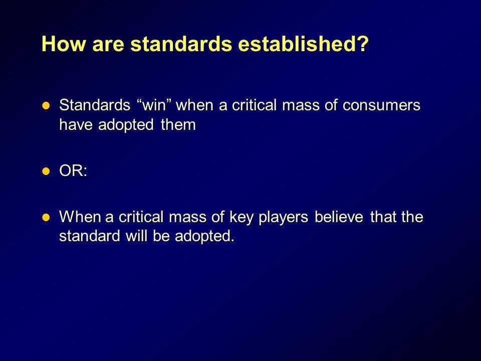 How are standards established