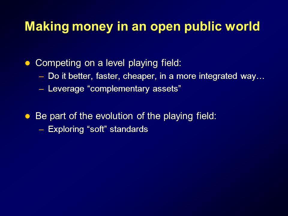 Making money in an open public world