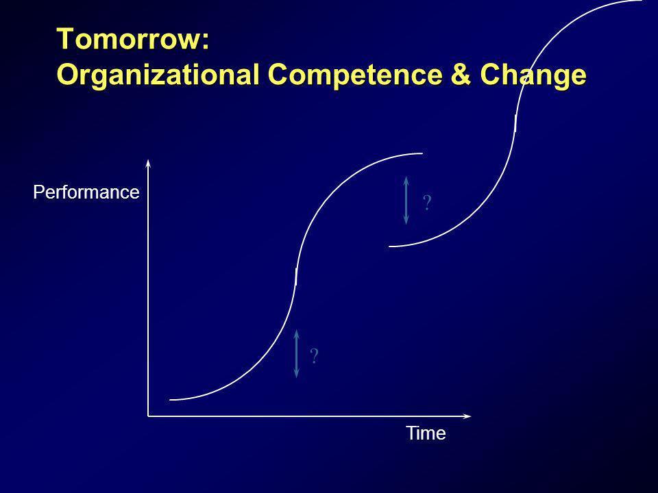 Tomorrow: Organizational Competence & Change