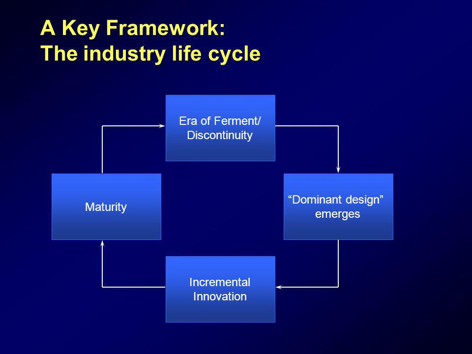 A Key Framework: The industry life cycle