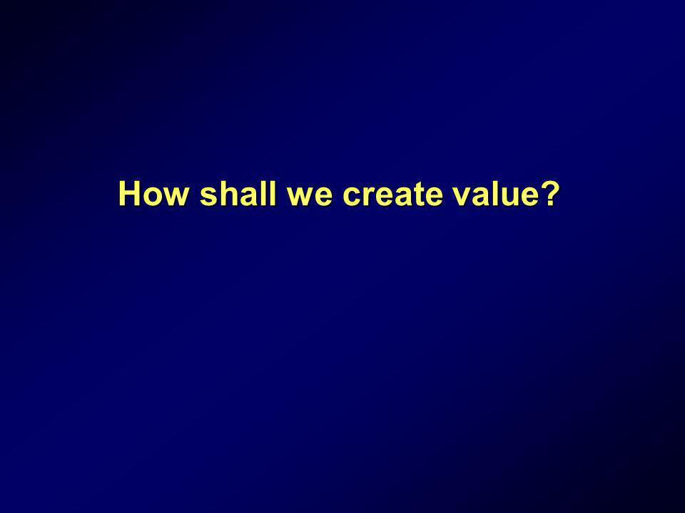 How shall we create value