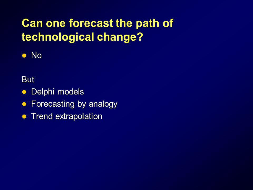 Can one forecast the path of technological change