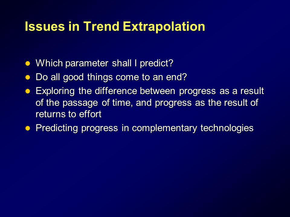 Issues in Trend Extrapolation