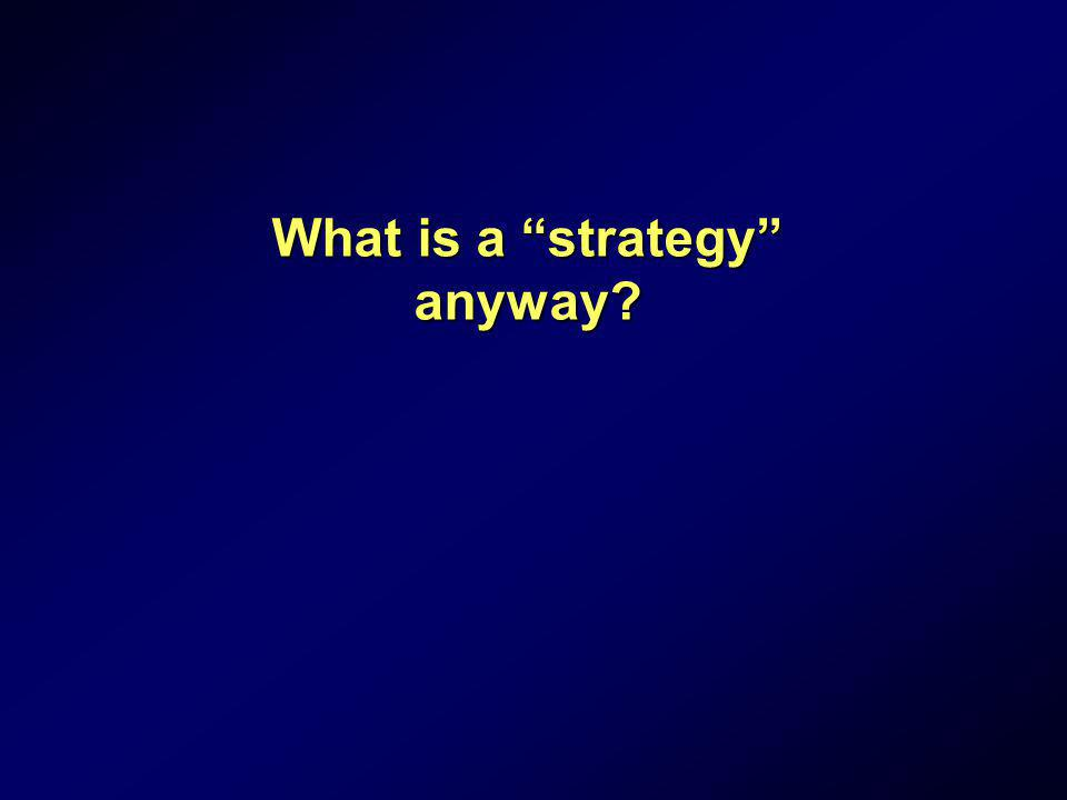 What is a strategy anyway
