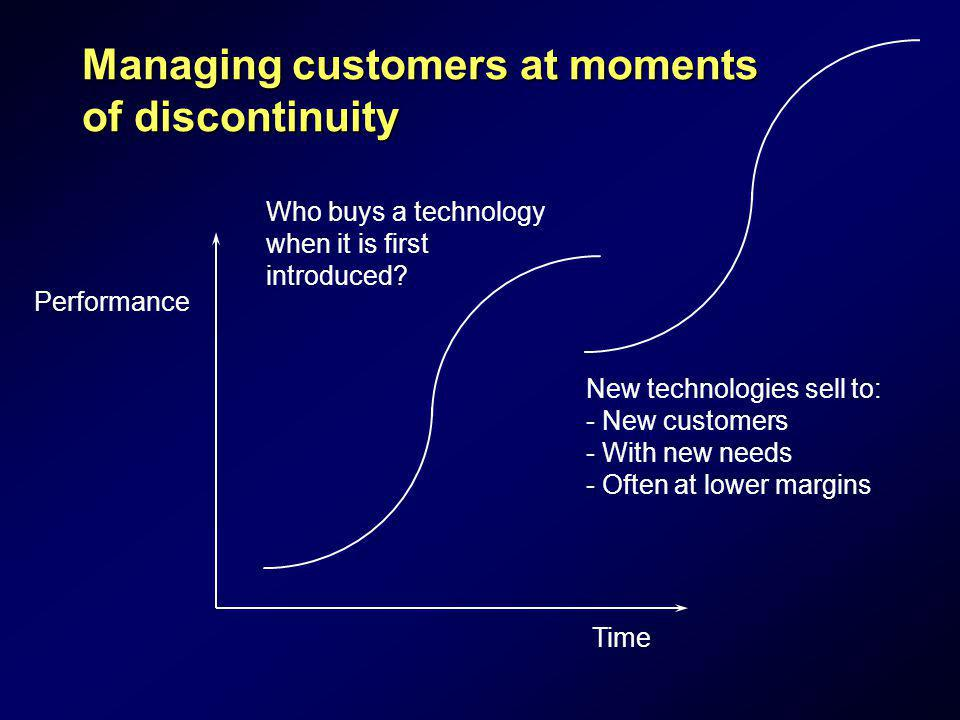 Managing customers at moments of discontinuity