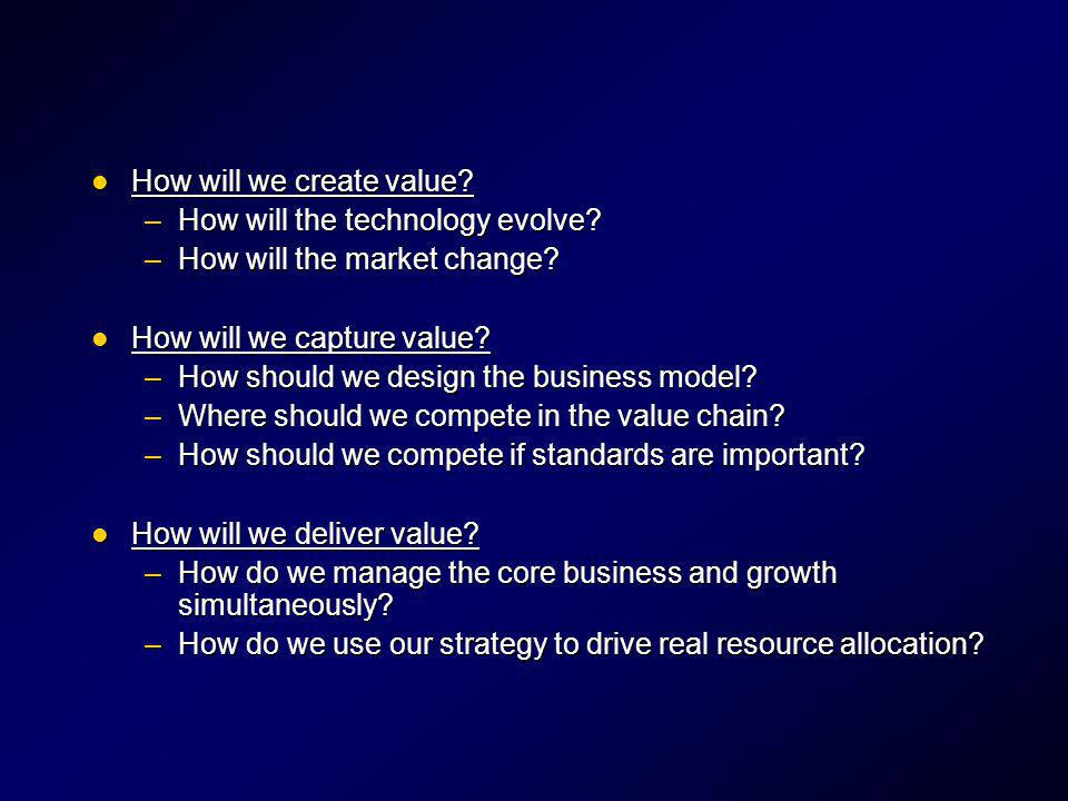 How will we create value