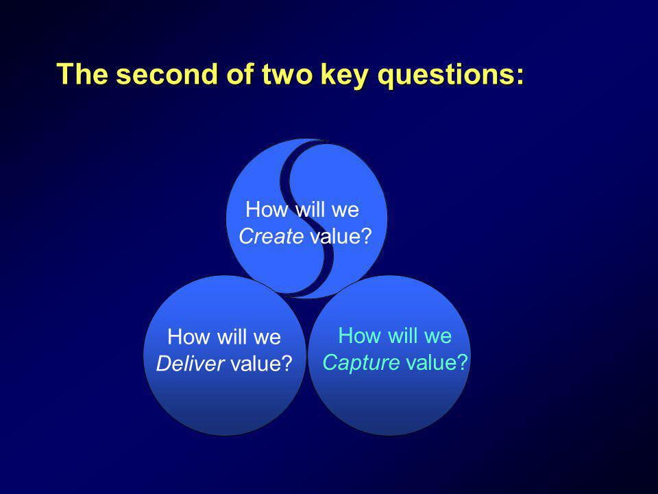 The second of two key questions: