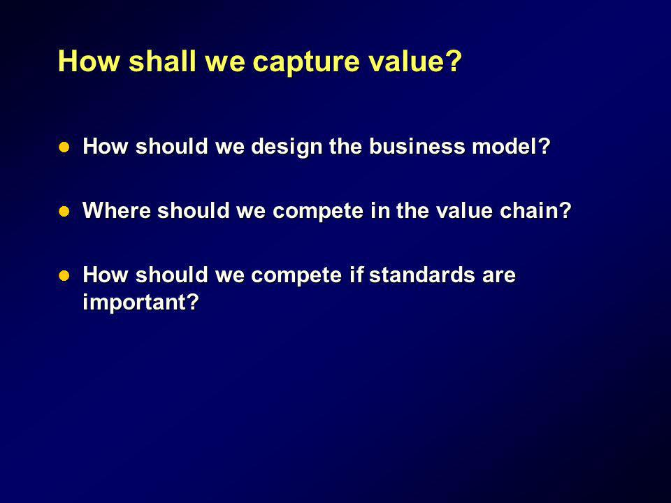How shall we capture value