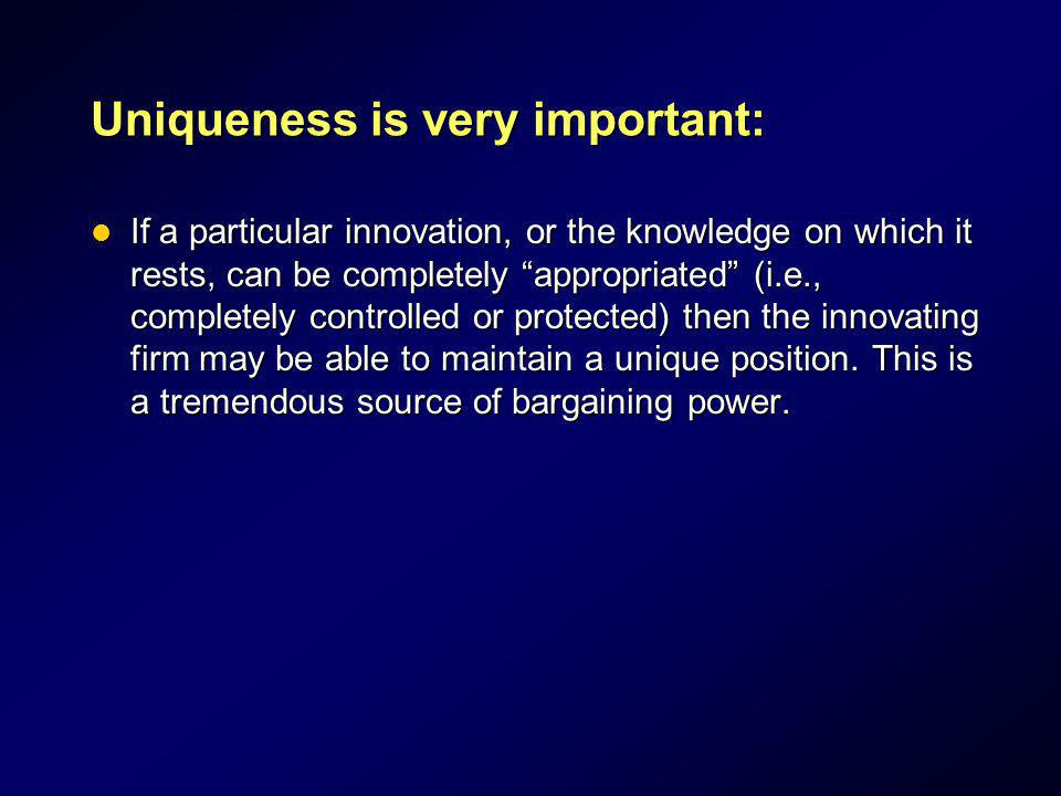 Uniqueness is very important: