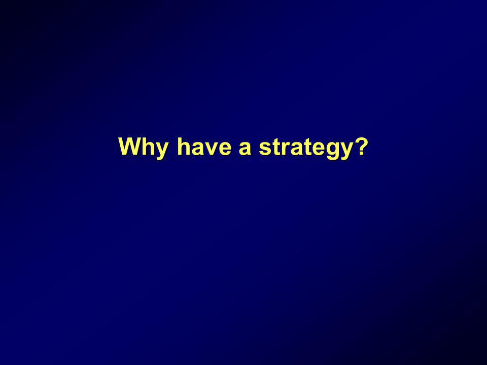 Why have a strategy