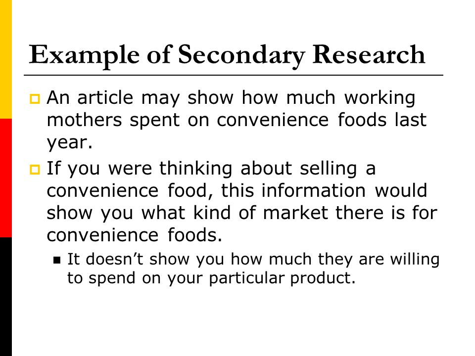 Example of Secondary Research