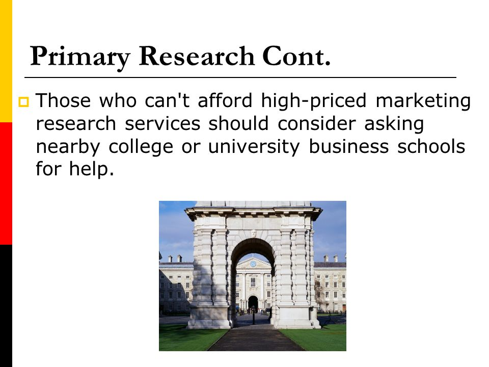 Primary Research Cont.