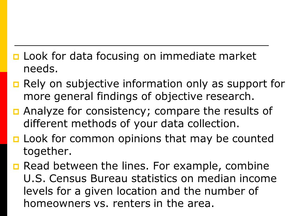 Look for data focusing on immediate market needs.