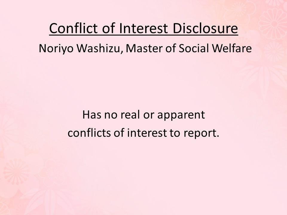conflicts of interest to report.