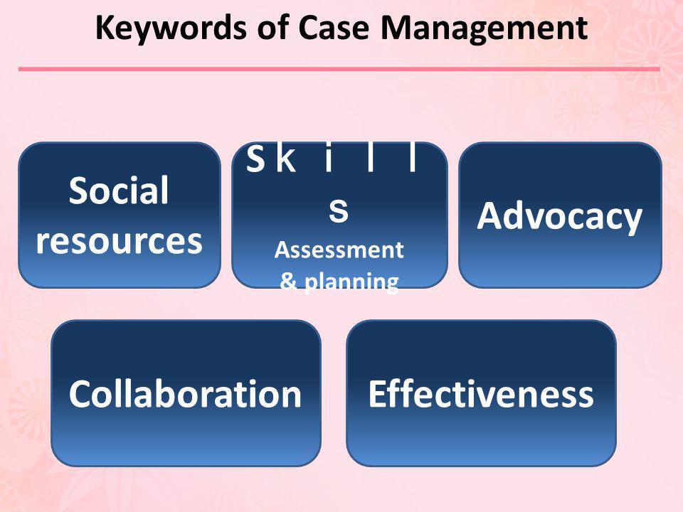 Keywords of Case Management