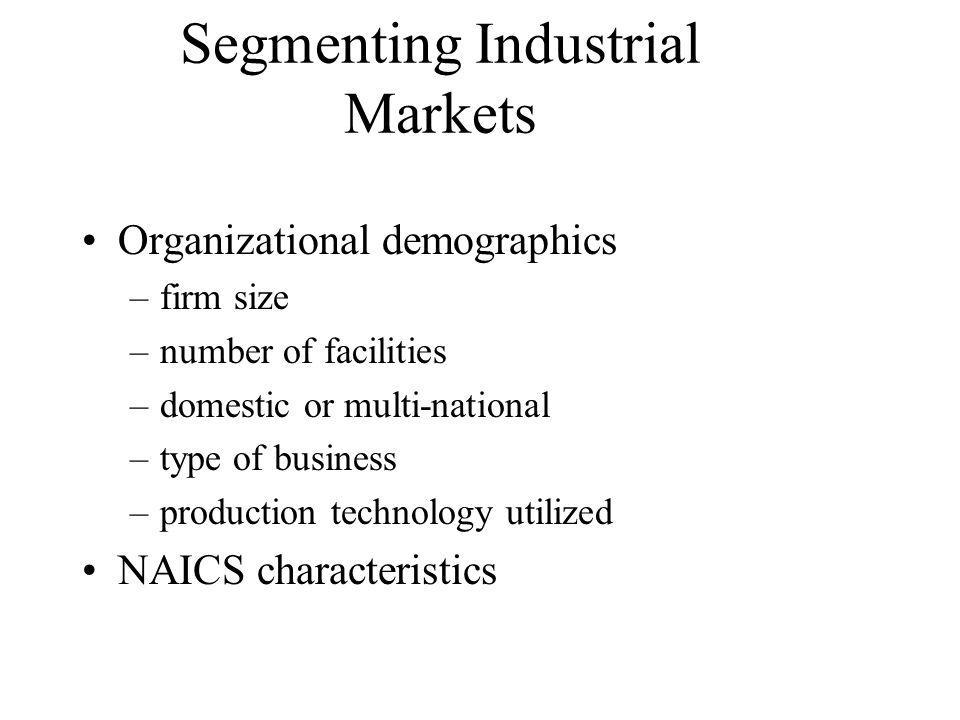 Segmenting Industrial Markets