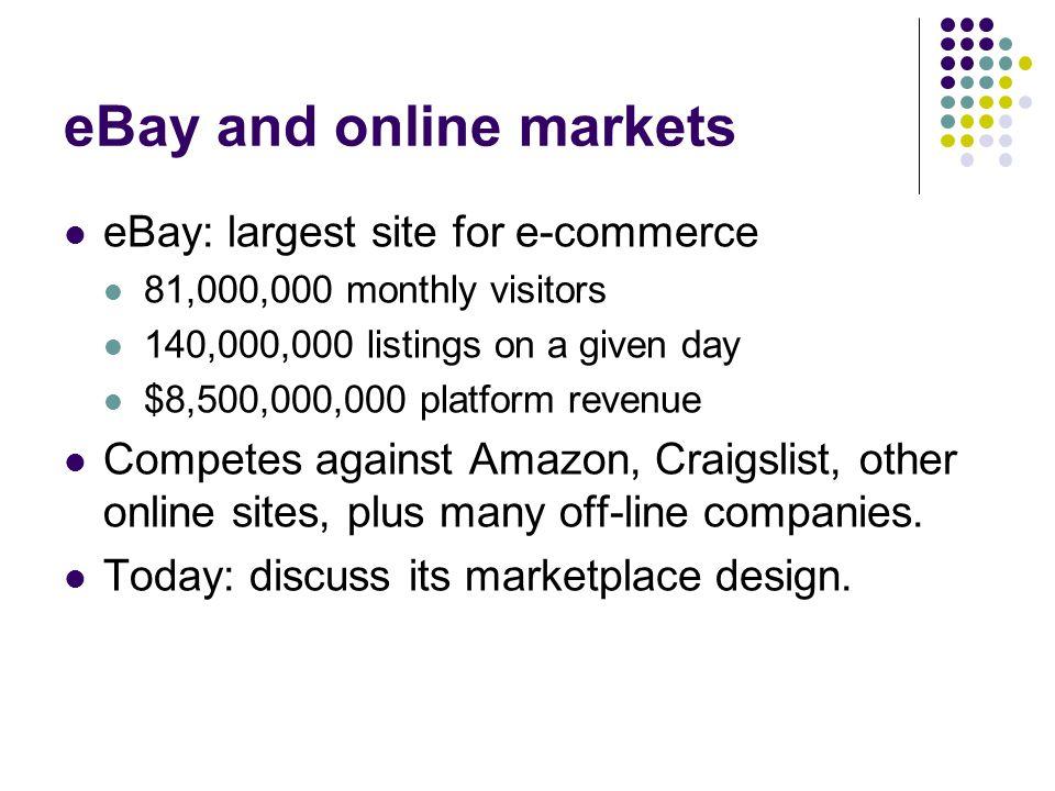 eBay and online markets