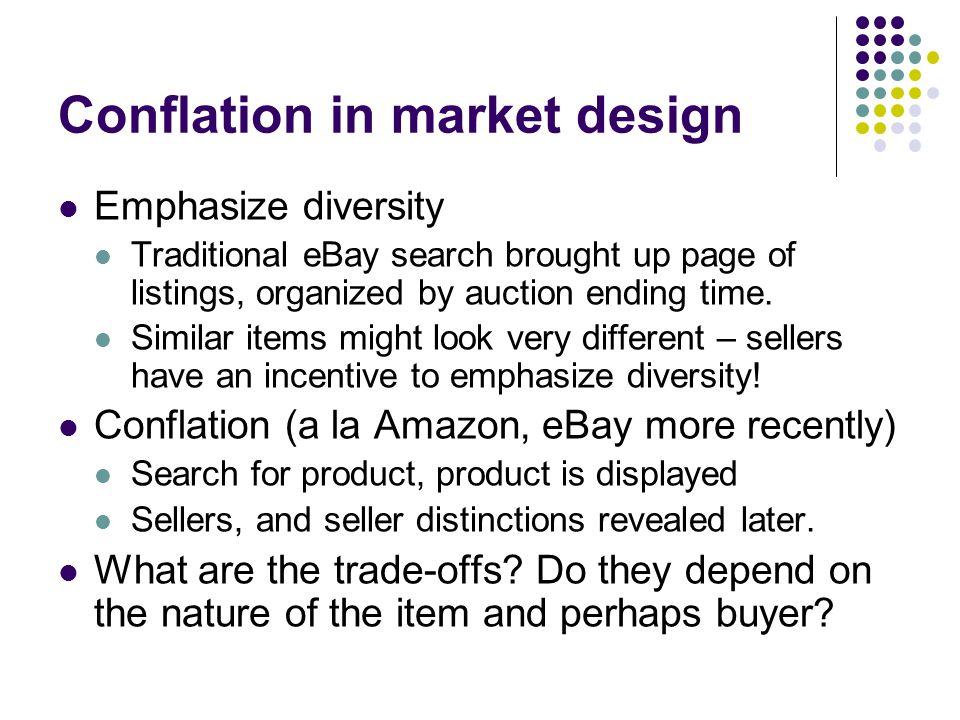 Conflation in market design