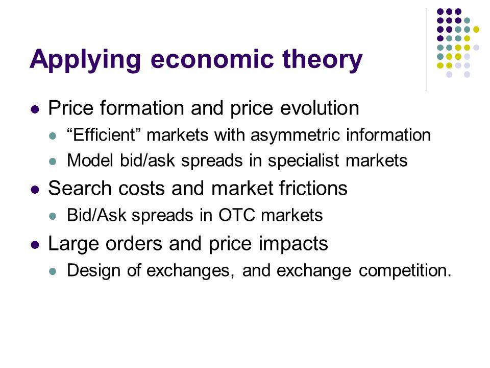Applying economic theory