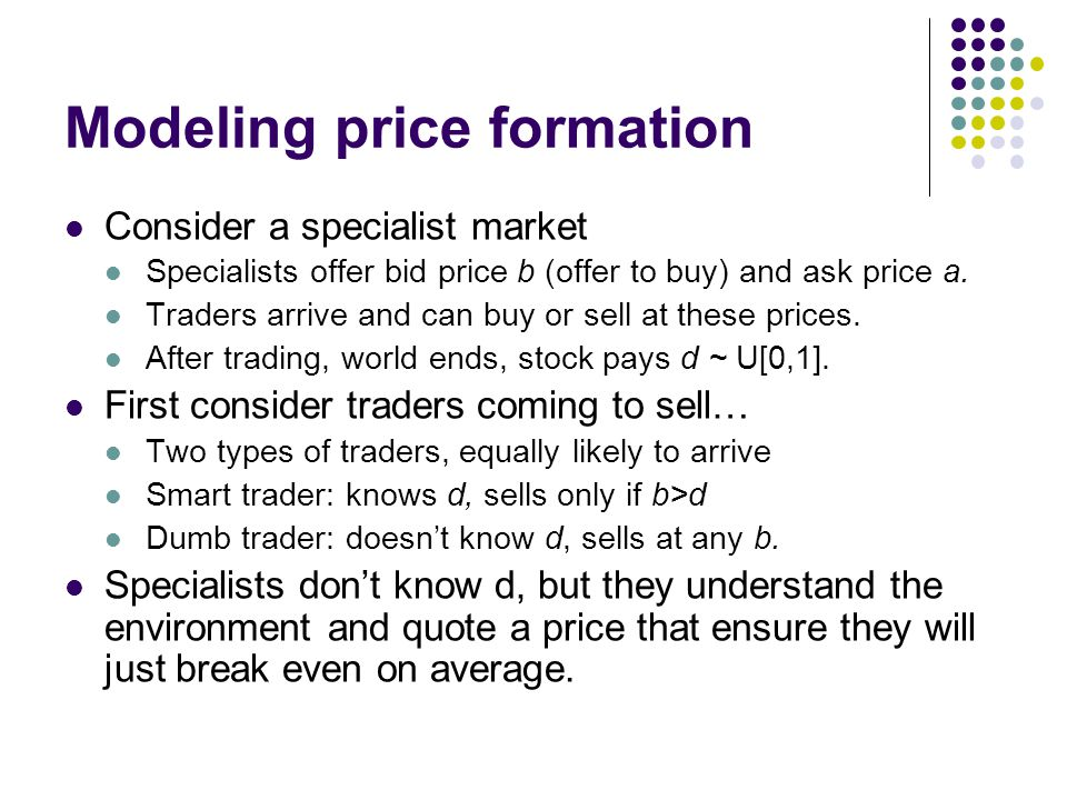 Modeling price formation