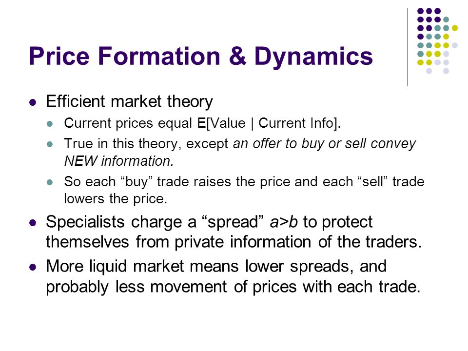 Price Formation & Dynamics