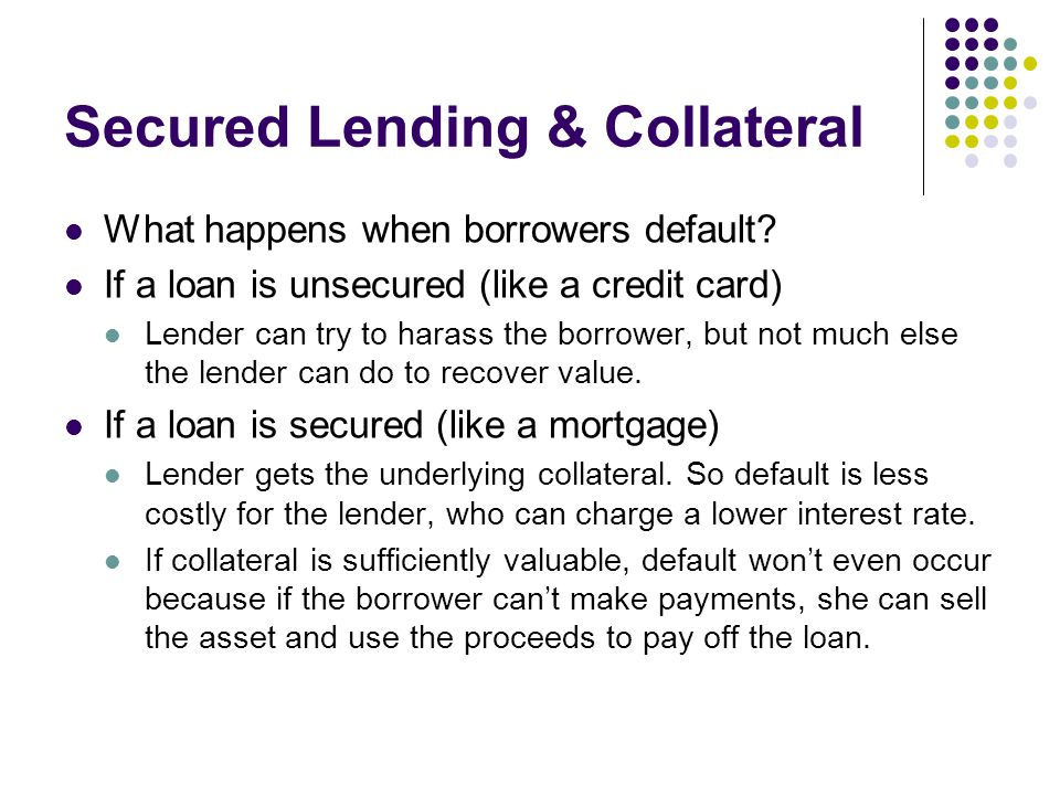 Secured Lending & Collateral