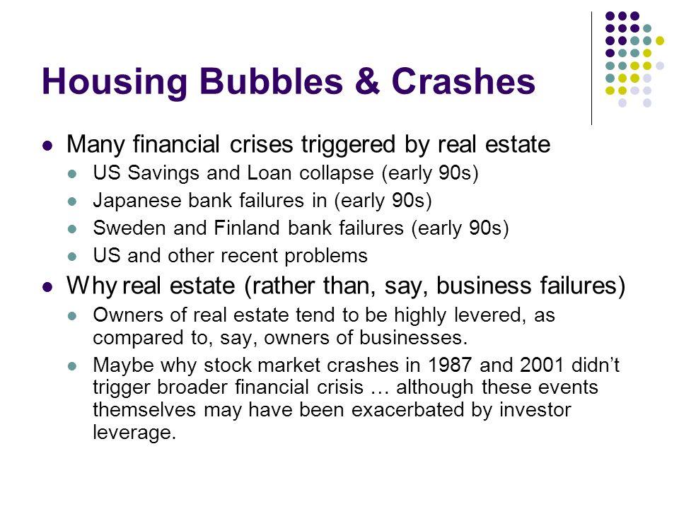 Housing Bubbles & Crashes