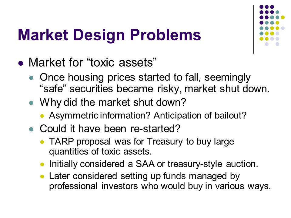 Market Design Problems