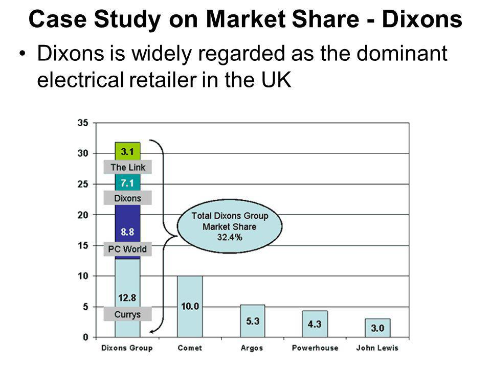Case Study on Market Share - Dixons