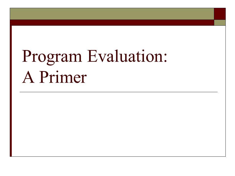 Program Evaluation: A Primer