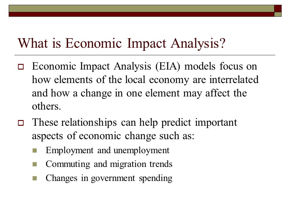 What is Economic Impact Analysis
