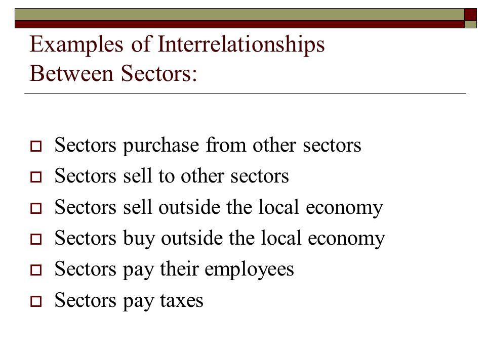 Examples of Interrelationships Between Sectors: