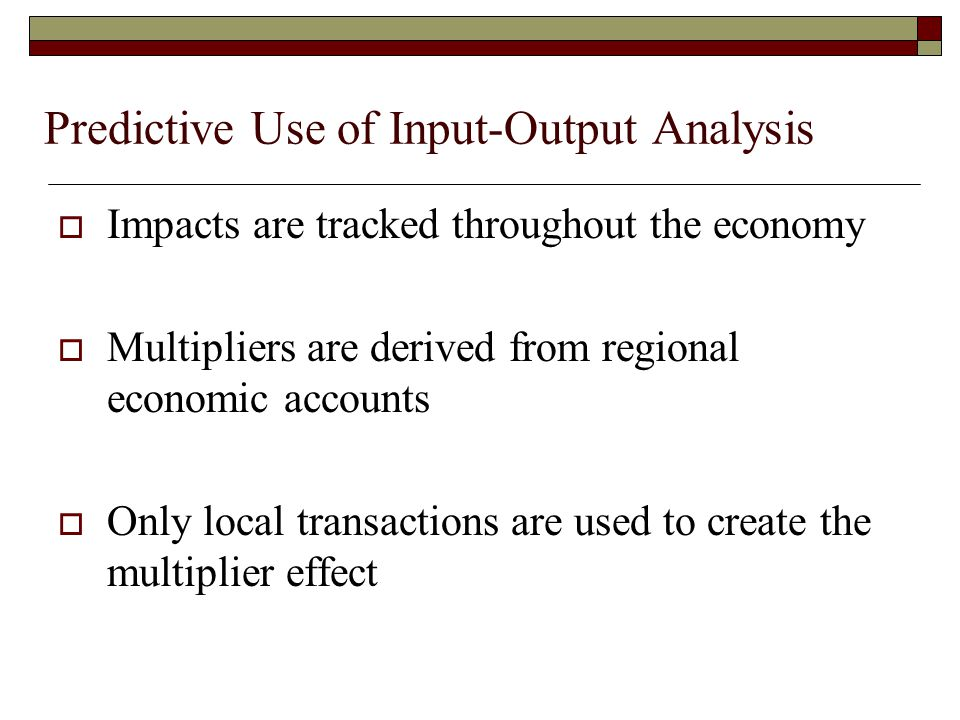 Predictive Use of Input-Output Analysis