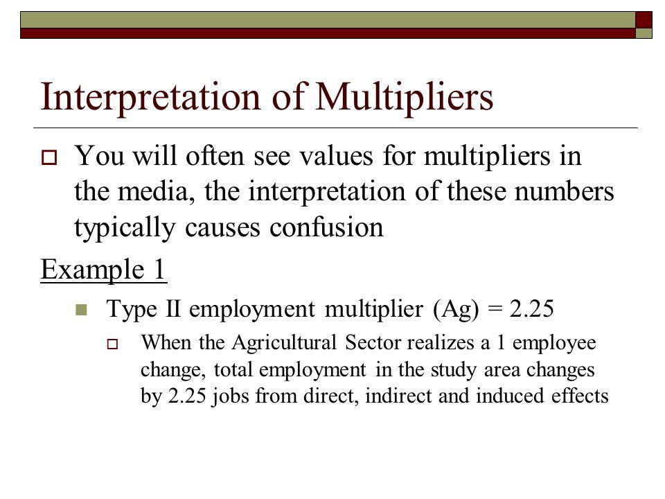 Interpretation of Multipliers