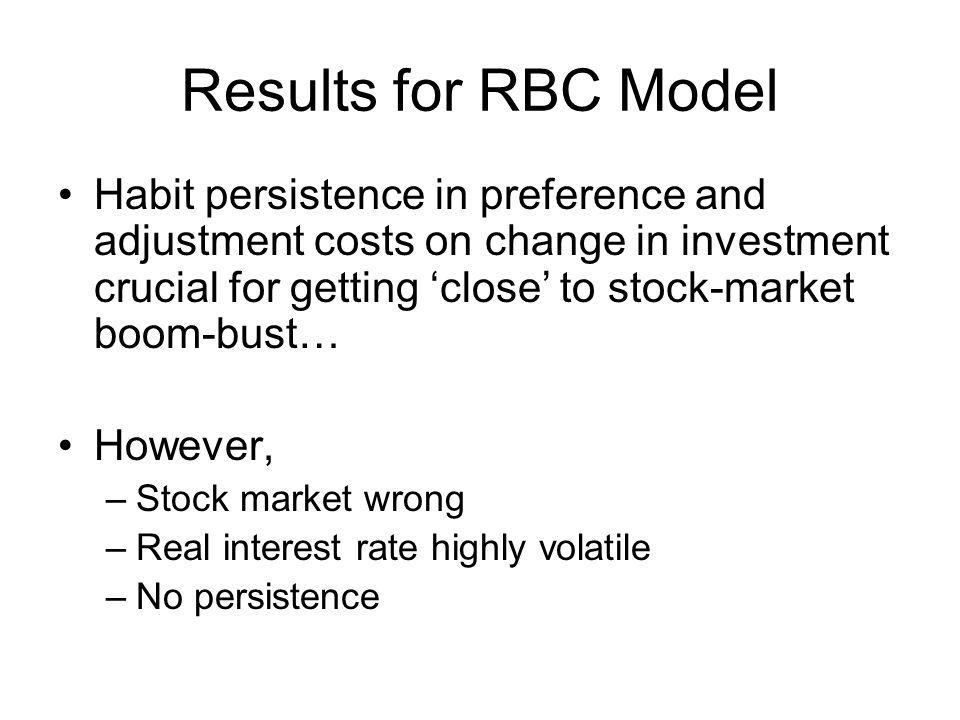 Results for RBC Model