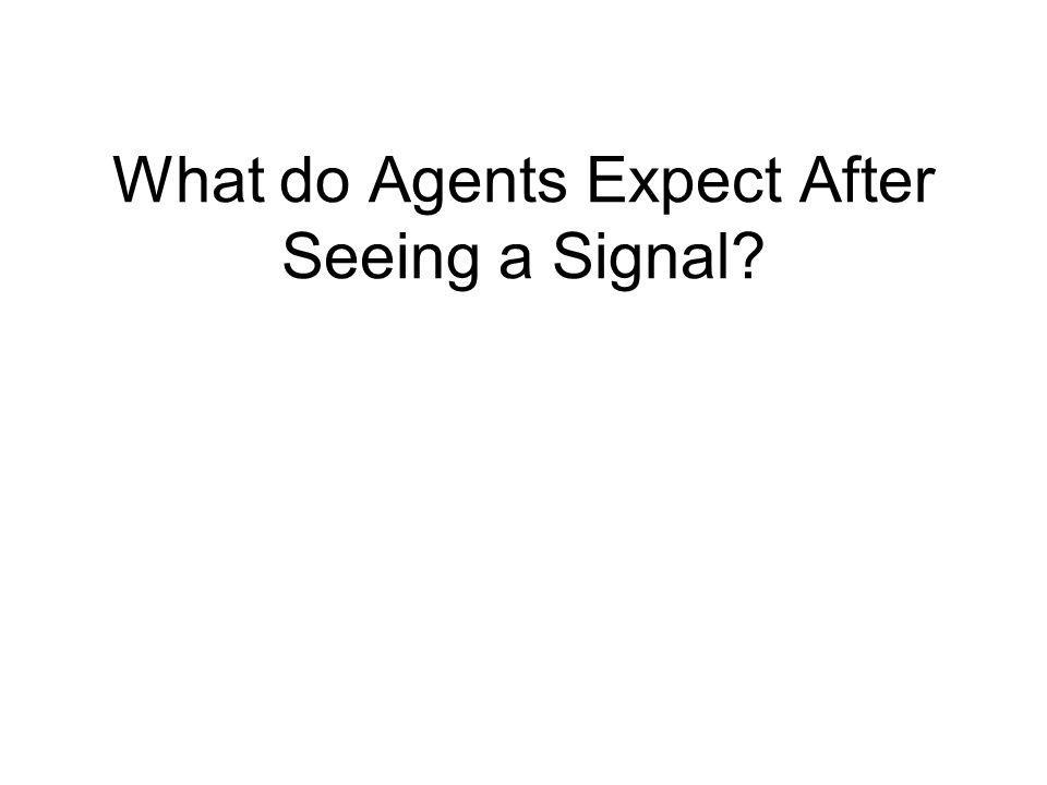 What do Agents Expect After Seeing a Signal