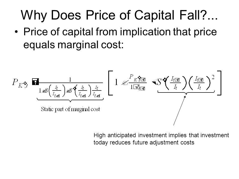 Why Does Price of Capital Fall ...