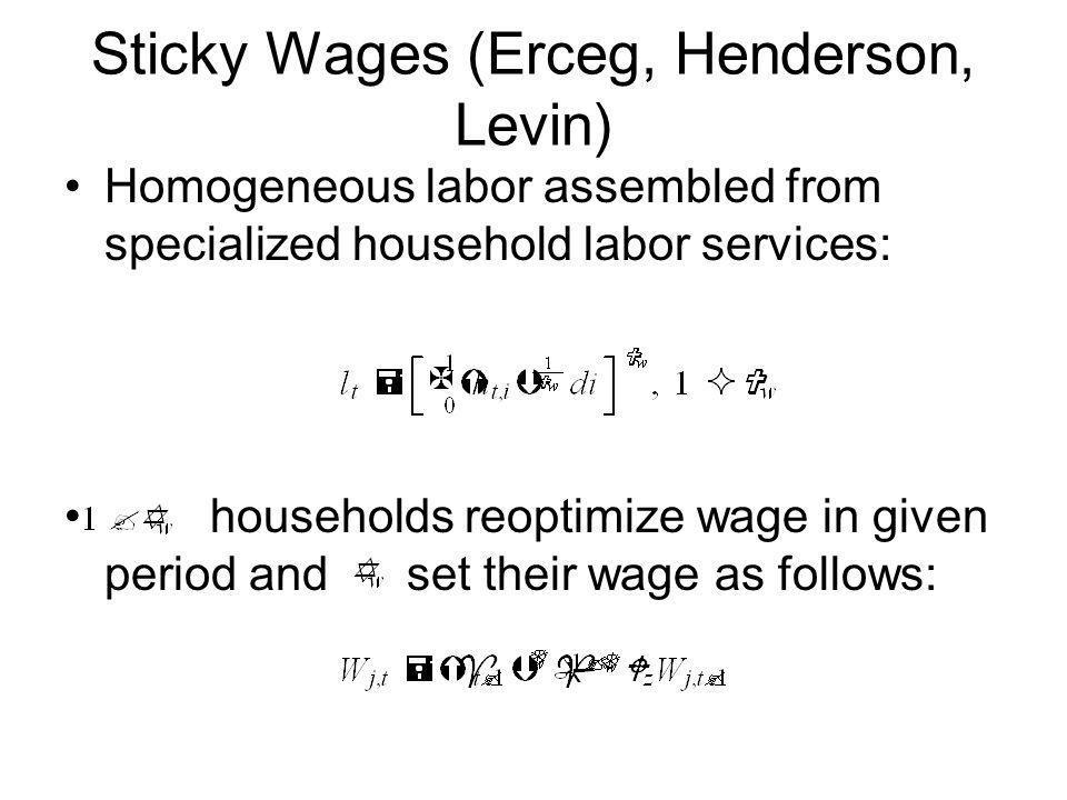 Sticky Wages (Erceg, Henderson, Levin)