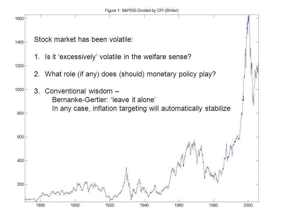 Stock market has been volatile: