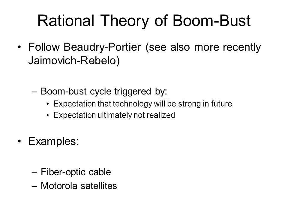 Rational Theory of Boom-Bust