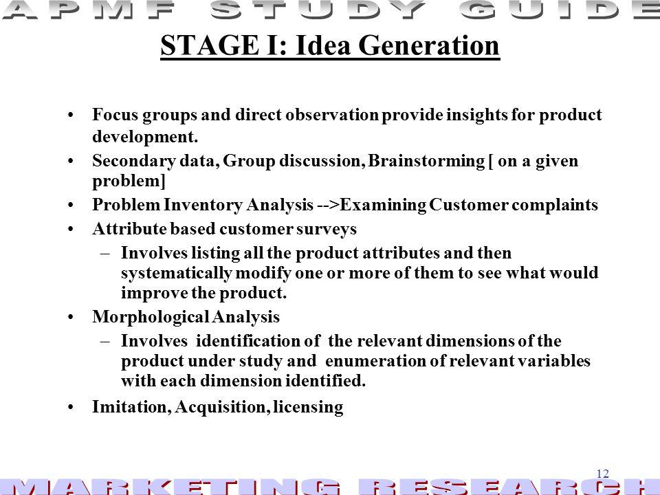 STAGE I: Idea Generation