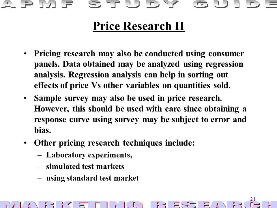 Price Research II
