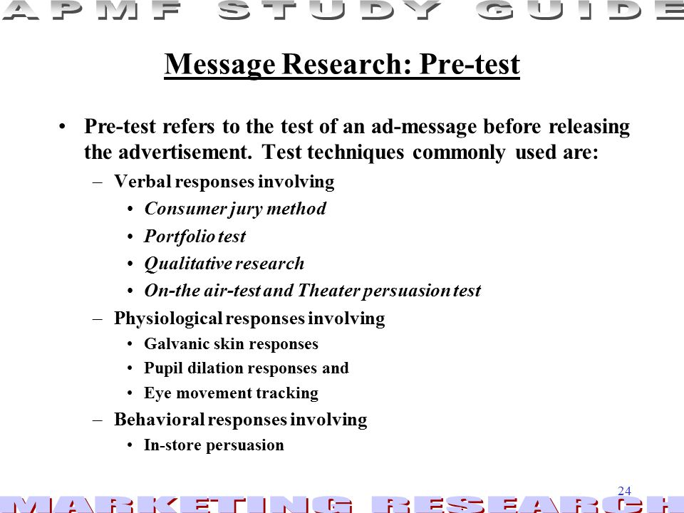 Message Research: Pre-test