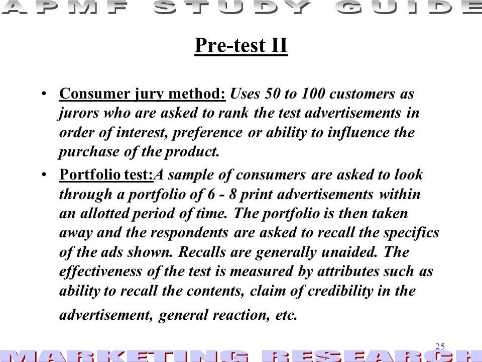Pre-test II