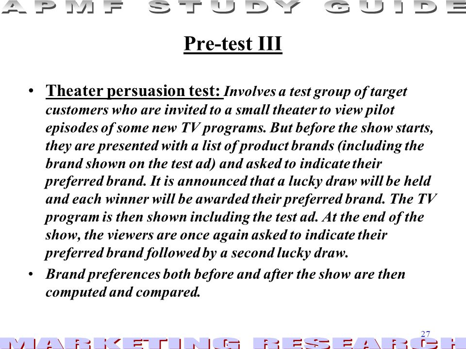 Pre-test III