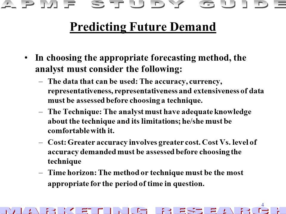 Predicting Future Demand