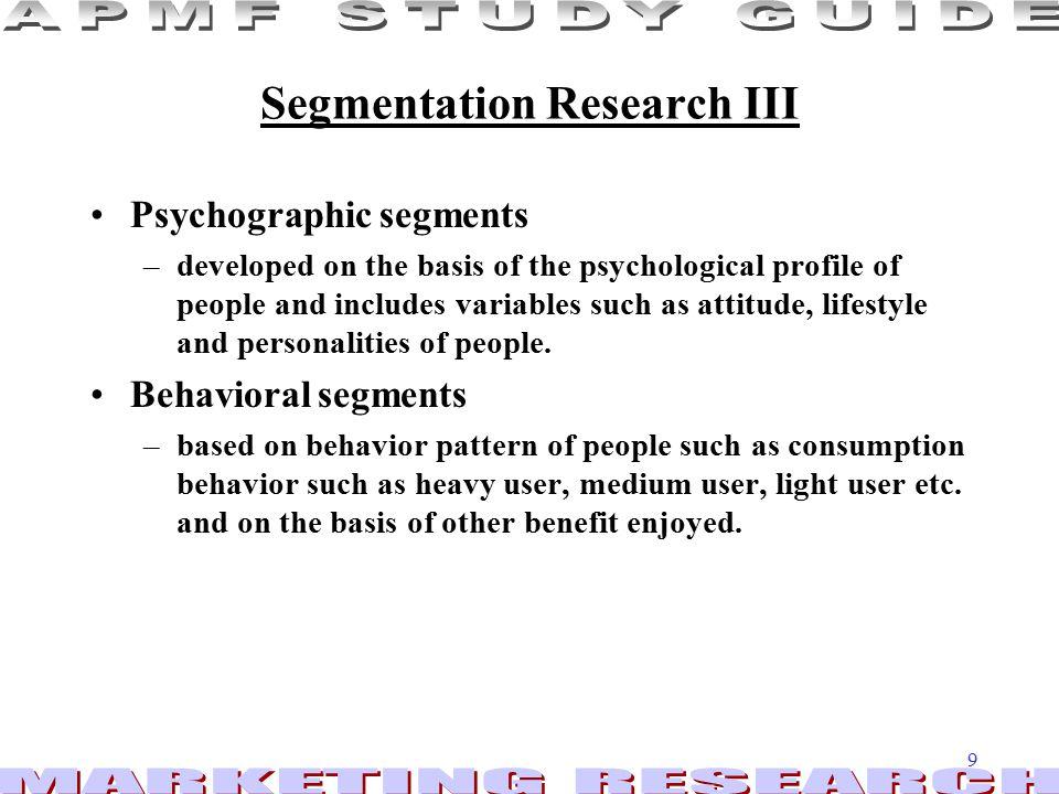 Segmentation Research III