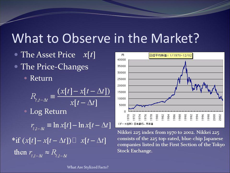 What to Observe in the Market