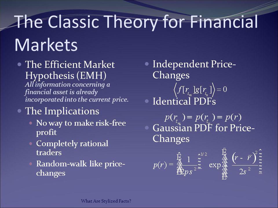 The Classic Theory for Financial Markets