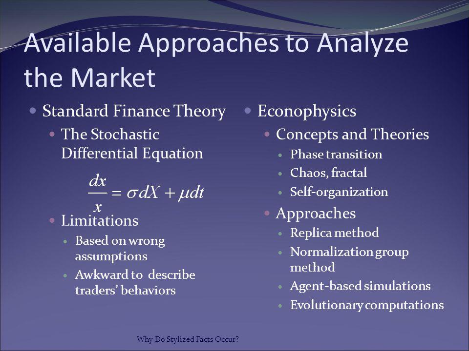 Available Approaches to Analyze the Market